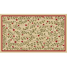 Hollyberry Vine Novelty Rug