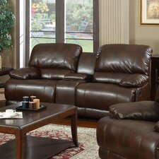 Carlos Bonded Leather 2 Seater Reclining Sofa