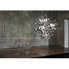 "Argent 12 Light 29.9"" Suspension White Iron Finish Pendant"