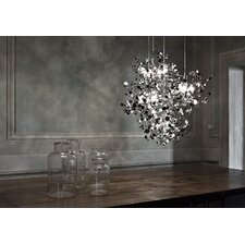 "<strong>Terzani</strong> Argent 12 Light 29.9"" Suspension White Iron Finish Pendant"