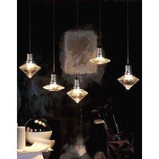 "Kristal Diam 8/8 6.7"" One Light Pendant"