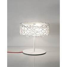 "Glamour 17.8"" H Table Lamp with Drum Shade"
