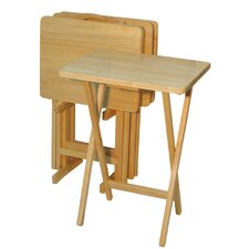 <strong>Casual Home</strong> Tray Table with Stand (Set of 4)