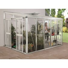 Helena Wall Garden Greenhouse with Float Glass Side