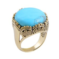 Flamenco Metal Turquoise Dom Ring