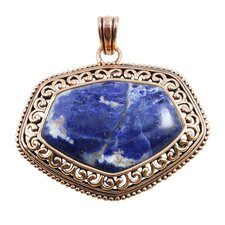 Basic Copper Sodalite Pendant