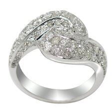 <strong>DeBuman</strong> White Gold Round Cut Diamond Ring