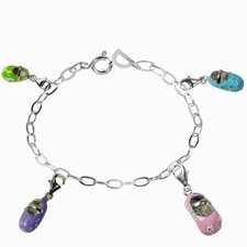Enamel Babyshoes Charm Bracelet
