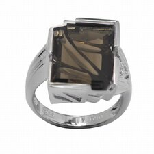 925 Silver Genuine Gemstone and Cubic Zirconia Ring