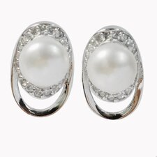 <strong>DeBuman</strong> Pear Gemstone Stud Earrings