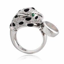 Sterling Silver Leopard Gemstone Ring