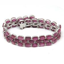 Natural Ruby Tennis Bracelet