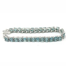 Natural Blue Zircon Tennis Bracelet