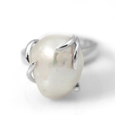 <strong>DeBuman</strong> Sterling Silver Natural Cultured Pearl Ring