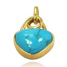 14K Gold Turquoise Pendant