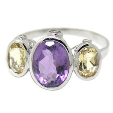 10K White Gold Gemstone Ring