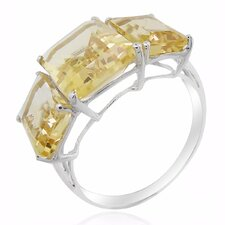<strong>DeBuman</strong> 10K White Gold Citrine Ring