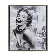 Marilyn and the Empire State Framed Graphic Art