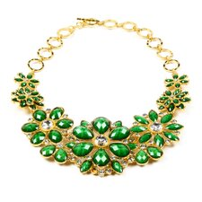 Gold Tone Brass Crystal Paragano Necklace