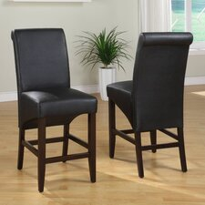 "<strong>Modus Furniture</strong> Cosmo 18"" Bar Stool with Cushion (Set of 2)"