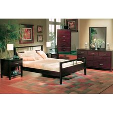 Nevis Espresso Platform Bedroom Collection