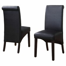 <strong>Modus Furniture</strong> Cosmo Leather Parson Chair(set of 2)