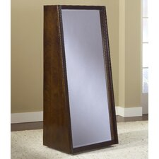 "Legend Wood 60"" Bookcase with Back Floor Mirror"