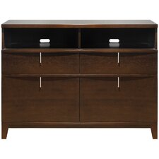 Legend Wood 2 Drawer 2 Door Media Chest