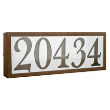 "4 Light Large Standard 4"" Light Address Plaque"