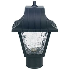 "1 Light 8"" Glass Outdoor Post Lantern"