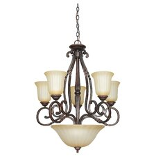 <strong>Sunset Lighting</strong> Graham 8 Light Chandelier