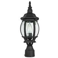 French 1 Light Outdoor Post Lantern