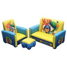 Nickelodeon Team umizoomi Problem Solved Toddler Sofa, Club Chair and Ottoman Set