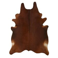 Natural Cowhide Chestnut Rug