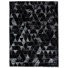 <strong>Pure Rugs</strong> Patchwork Cowhide Kahn Black Rug