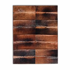 <strong>Pure Rugs</strong> Patchwork Cowhide Oak Normand Rug