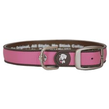 All Style Simply Solid Pink and Brown No Stink Dog Collar