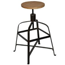 Malakoff Stool with Wood Top