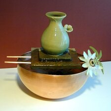 <strong>Art Matters</strong> Flower Ceramic Vase Tabletop Fountain