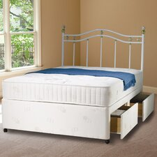 Avallon Memory Foam Quilted Open Coil Sprung Medium Firm Mattress