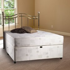 Malo Hand Tufted Open Coil Sprung Mattress with Damask Cover