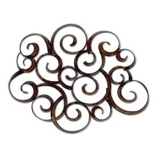 Abstract Swirls Metal Wall Art