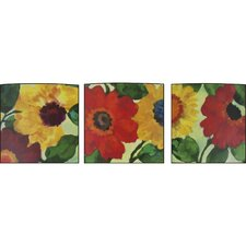 <strong>J. Hunt Home</strong> Floral Anemone Garden 3 Piece Wall Art Set
