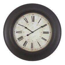 24 Quot Roman Woodgrain Wall Clock