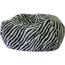 Animal Skin Zebra Safari Bean Bag Chair