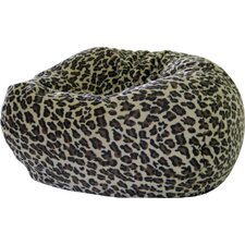 <strong>Gold Medal Bean Bags</strong> Leopard Safari Bean Bag Chair
