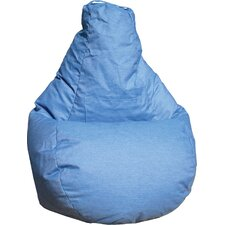 Tear Drop Denim Bean Bag Lounger