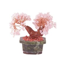 Bonsai Rose Quartz Lamp