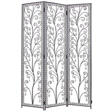 Venezia Decorative Room Partition in Clear and Black
