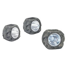 Jens 1 Light Stone Garden Light (Set of 3)